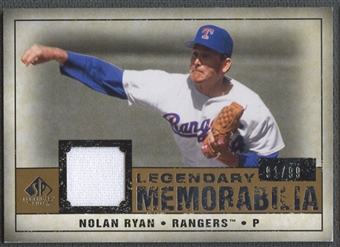 2008 SP Legendary Cuts #NR2 Nolan Ryan Legendary Memorabilia Jersey #91/99
