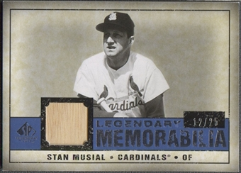 2008 Upper Deck SP Legendary Cuts #SM Stan Musial Legendary Memorabilia Bat #12/25