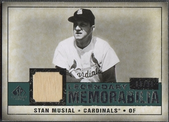 2008 Upper Deck SP Legendary Cuts #SM Stan Musial Legendary Memorabilia Bat #66/99
