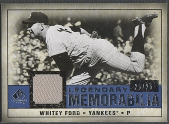 2008 Upper Deck SP Legendary Cuts #WF Whitey Ford Legendary Memorabilia Jersey #25/25