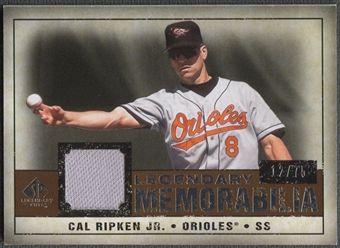 2008 Upper Deck SP Legendary Cuts #CR Cal Ripken Jr. Legendary Memorabilia Jersey #12/75