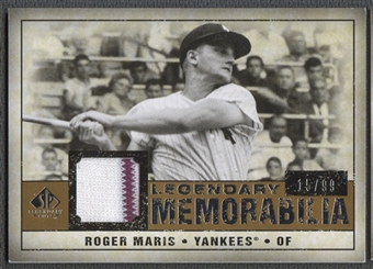 2008 SP Legendary Cuts #RM Roger Maris Legendary Memorabilia Jersey #15/99