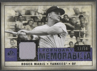 2008 Upper Deck SP Legendary Cuts #RM Roger Maris Legendary Memorabilia Jersey #17/50