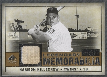 2008 SP Legendary Cuts #HK Harmon Killebrew Legendary Memorabilia Jersey #64/99