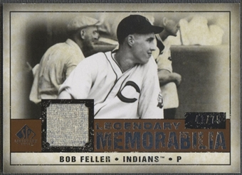 2008 Upper Deck SP Legendary Cuts #BF Bob Feller Legendary Memorabilia Jersey #41/75