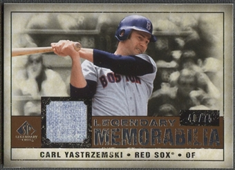 2008 Upper Deck SP Legendary Cuts #CY Carl Yastrzemski Legendary Memorabilia Jersey #40/75