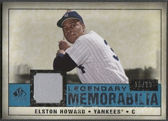 2008 Upper Deck SP Legendary Cuts #EH Elston Howard Legendary Memorabilia Jersey #15/99