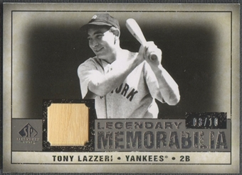 2008 SP Legendary Cuts #TL Tony Lazzeri Legendary Memorabilia Bat #03/10