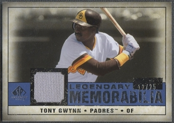 2008 SP Legendary Cuts #TG2 Tony Gwynn Legendary Memorabilia Jersey #12/25