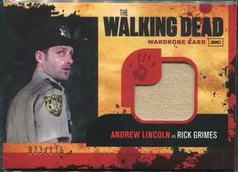 2013 Cryptozoic 2011 The Walking Dead Wardrobe Memorabilia #M1 Rick Grimes 33/175