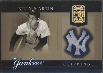 2005 Donruss Greats #4 Billy Martin Yankee Clippings Material Kneeling Jersey