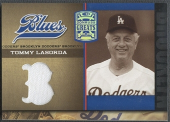2005 Donruss Greats #4 Tommy Lasorda Dodger Blues Brooklyn Material Jersey