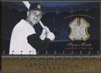 2008 Upper Deck Yankee Stadium Legacy Collection #RM Roger Maris Memorabilia Jersey