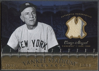 2008 Upper Deck Yankee Stadium Legacy Collection #CS Casey Stengel Memorabilia Jersey