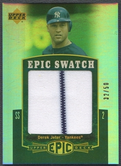 2006 Upper Deck Epic #DJ1 Derek Jeter Epic Swatch Jersey #32/50