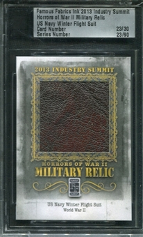 2013 Famous Fabrics Industry Summit Horrors Of War II Military Relic US Navy Suit 23/30
