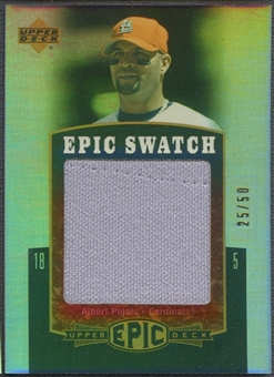 2006 Upper Deck Epic #AP Albert Pujols Epic Swatch Jersey #25/50