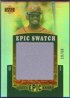 2006 Upper Deck Epic #KG1 Ken Griffey Jr. Epic Swatch Jersey #10/50