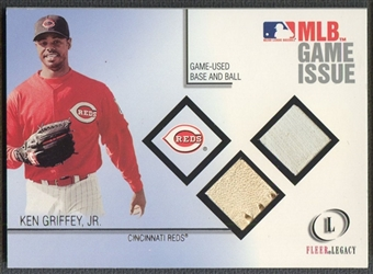 2001 Fleer Legacy #4 Ken Griffey Jr. MLB Game Issue Base & Baseball #021/100