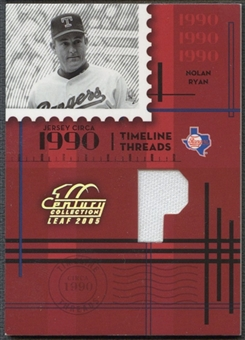 2005 Leaf Century #34 Nolan Ryan Timeline Threads Position Pants #05/90