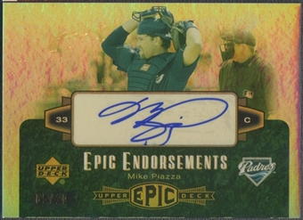 2006 Upper Deck Epic #PI Mike Piazza Epic Endorsements Auto #05/10