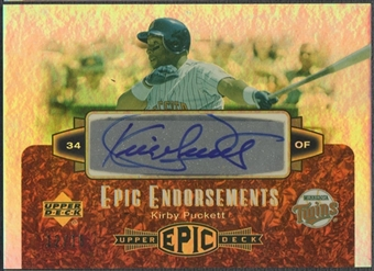 2006 Upper Deck Epic #KP Kirby Puckett Epic Endorsements Auto #12/15