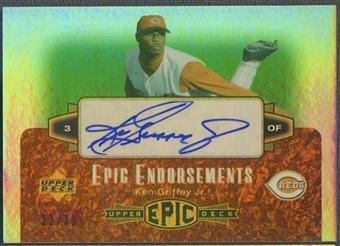 2006 Upper Deck Epic #KG1 Ken Griffey Jr. Epic Endorsements Auto #23/30