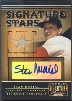 2005 Donruss Signature #11 Stan Musial Signature Stars Material Jersey Auto
