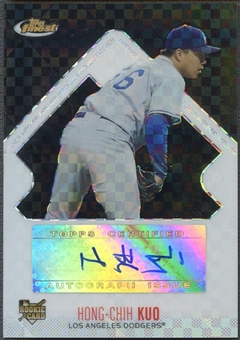 2006 Finest #144 Hong-Chih Kuo Rookie X-Fractors Black Auto #02/25