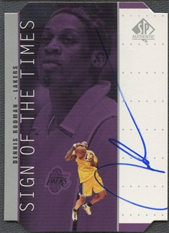 1998/99 SP Authentic #DR Dennis Rodman Sign of the Times Silver Auto