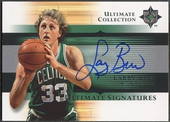 2005/06 Ultimate Collection #USLB Larry Bird Signatures Auto SP