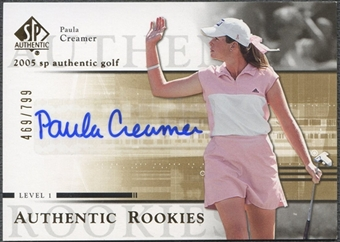2005 SP Authentic #104 Paula Creamer Rookie Auto #469/799