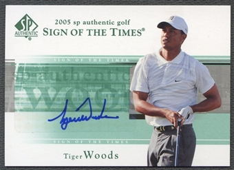2005 SP Authentic #TW Tiger Woods Sign of the Times Single Auto