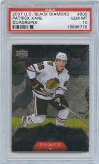 2007/08 Upper Deck Black Diamond #200 Patrick Kane RC PSA 10 Gem Mint