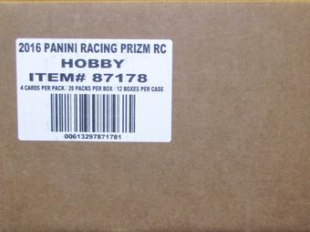 2016 Panini Prizm Racing Hobby 12-Box Case