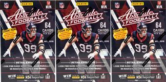 2016 Panini Absolute Football 8-Pack Box (Lot of 3)