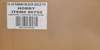 2015 Panini Black Gold Football Hobby 8-Box Case