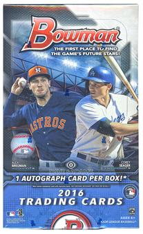 2016 Bowman Baseball Hobby Box
