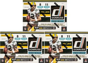 2016 Donruss Football 11-Pack Box (Lot of 3)