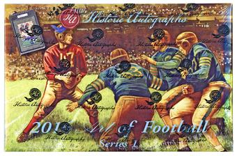 2016 Historic Autograph Art Of Football Series 1 Hobby Box