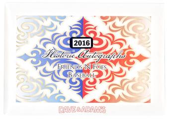 2016 Historic Autographs Friends and Foes Baseball Hobby Box
