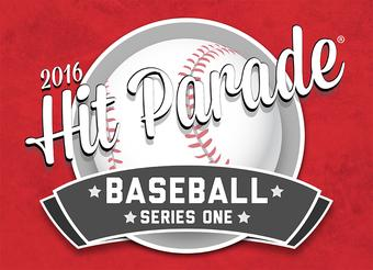 2016 Hit Parade Baseball Series 1 Box - 7 Hits per box!! With at least 1 Auto Letter Patch & 8-player swatch c