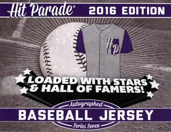 2016 Hit Parade Autographed Baseball Jersey Hobby Box - Series 7 - Mike Trout & Willie Mays!!!!