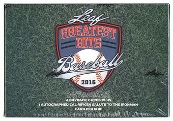 2016 Leaf Greatest Hits Baseball Hobby Box