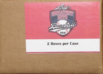 2016 Leaf Greatest Hits Baseball Hobby 2-Box Case