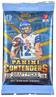 2016 Panini Contenders Draft Picks Football Hobby Pack