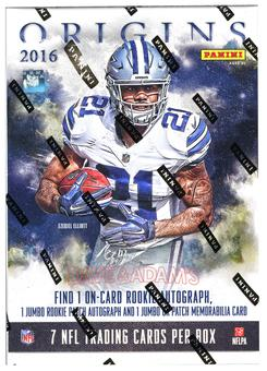KIL- -WEEK EIGHT- 2016 Panini Origins Football 16-Box Hobby Case- DACW Live 30 Spot Random Team Break #3