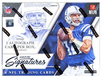 2016 Panini Prime Signatures Football Hobby 12-Box Case- DACW Live @ National 32 Spot Random Team Break #2