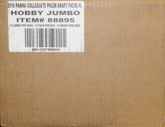 2016 Panini Prizm Collegiate Draft Picks Football Hobby 12-Box Case
