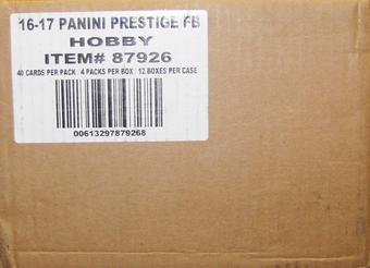 2016 Panini Prestige Football Hobby 12-Box Case